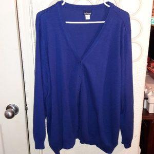 Royal blue Basic Editions 3x cardigan